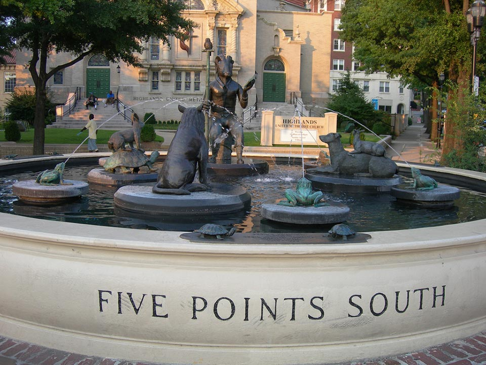 Storyteller fountain Five Points South Birmingham, AL